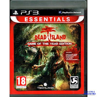 DEAD ISLAND GAME OF THE YEAR EDITION PS3 ESSENTIALS