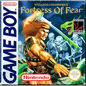 WIZARD & WARRIORS X FORTRESS OF FEAR  GAMEBOY