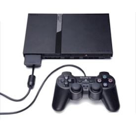 PLAYSTATION 2 SLIM MED TREDJE PARTS KONTROLLER