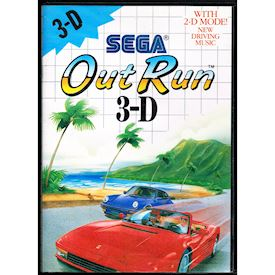 OUT RUN 3-D MASTER SYSTEM