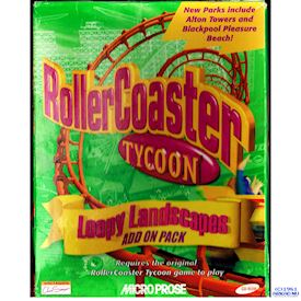 ROLLERCOASTER TYCOON LOOPY LANDSCAPES ADDON PACK PC BIGBOX