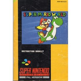 SUPER MARIO WORLD MANUAL SNES SCN