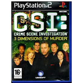 CSI CRIME SCENE INVESTIGATION 3 DIMENSIONS OF MURDER PS2