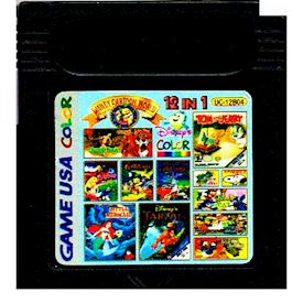 DISNEY CARTOON WORLD 12 IN 1 UC-12B04 BOOTLEG GAMEBOY