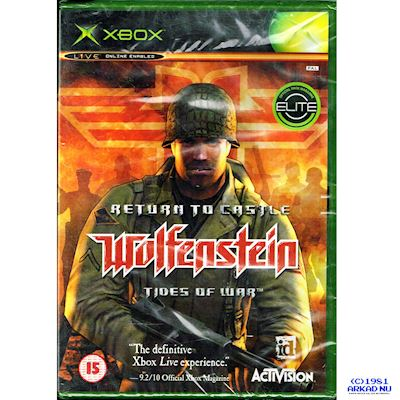 RETURN TO CASTLE WOLFENSTEIN TIDES OF WAR XBOX NY INPLASTAD