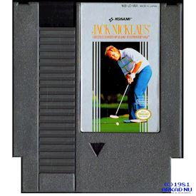 JACK NICKLAUS GREATEST 18 HOLES OF MAJOR CHAMPIONSHIP GOLF NES REV-A