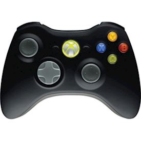 XBOX 360 WIRELESS CONTROLLER SVART