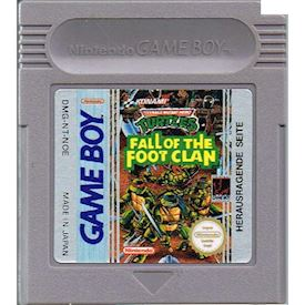 TEENAGE MUTANT HERO TURTLES FALL OF THE FOOT CLAN GAMEBOY