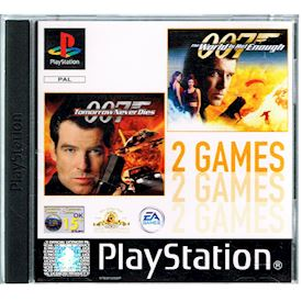 TOMORROW NEVER DIES + THE WORLD IS NOT ENOUGH 2 GAMES PS1