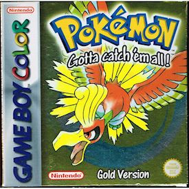 POKEMON GOLD GAMEBOY COLOR MED SVENSKT HÄFTE A4