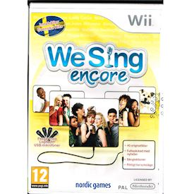 WE SING ENCORE WII
