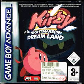 KIRBY NIGHTMARE IN DREAM LAND GBA