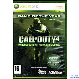 CALL OF DUTY 4 MODERN WARFARE GAME OF THE YEAR EDITION XBOX 360