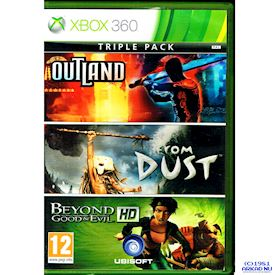 OUTLAND - FROM DUST - BEYOND GOOD & EVIL HD TRIPLE PACK XBOX 360