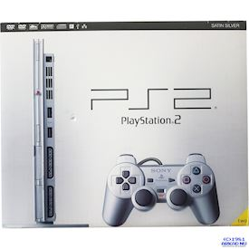 PLAYSTATION 2 SLIM SATIN SILVER NY OBRUTET SIGILL