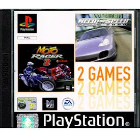 2 GAMES - NEED FOR SPEED PORSCHE & MOTO RACER 2 PS1