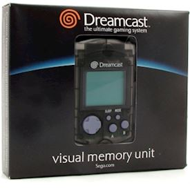 VISUAL MEMORY UNIT SVART DREAMCAST