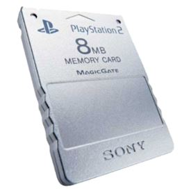 MINNESKORT PS2 8MB SILVER