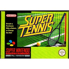 SUPER TENNIS SNES SCN SVENSK FOLDER A4