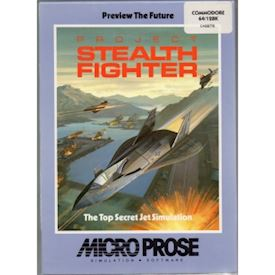 PROJECT STEALTH FIGHTER C64 TAPE