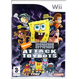 SPONGEBOB AND FRIENDS ATTACK OF THE TOYBOTS WII