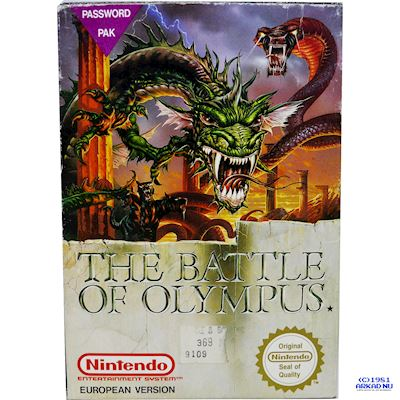 THE BATTLE OF OLYMPUS NES SCN