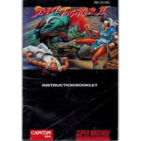 STREET FIGHTER II SNES MANUAL USA