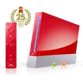 NINTENDO WII RED LIMITED 25TH ANNIVERSARY EDITION
