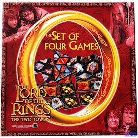 LORD OF THE RINGS THE TWO TOWERS THE SET OF FOUR GAMES SÄLLSKAPSSPEL