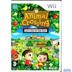 ANIMAL CROSSING LET'S GO TO THE CITY WII