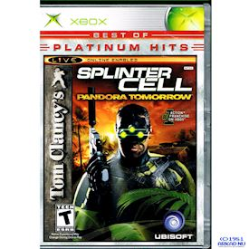 SPLINTER CELL PANDORA TOMORROW XBOX NTSC USA