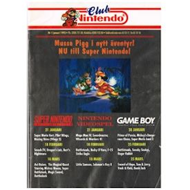 CLUB NINTENDO NR 1 JANUARI 1993