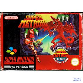 SUPER METROID SNES SCN BIG BOX