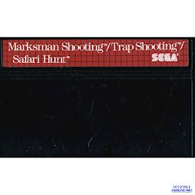 MARKSMAN SHOOTING / TRAP SHOOTING / SAFARI HUNT THE COMBO CARTRIDGE MASTER SYSTEM