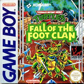 TEENAGE MUTANT HERO TURTLES FALL OF THE FOOTCLAN GAMEBOY SCN