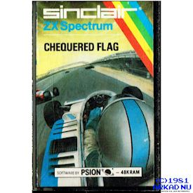 CHEQUERED FLAG ZX SPECTRUM KASSETT