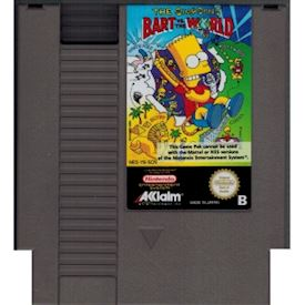 BART VS THE WORLD NES SCN