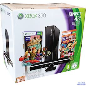 XBOX 360 SLIM 4GB KINECT BUNDLE BOXAD