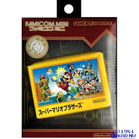 FAMICOM MINI SERIES VOL 1 SUPER MARIO BROS GBA JAPANSK